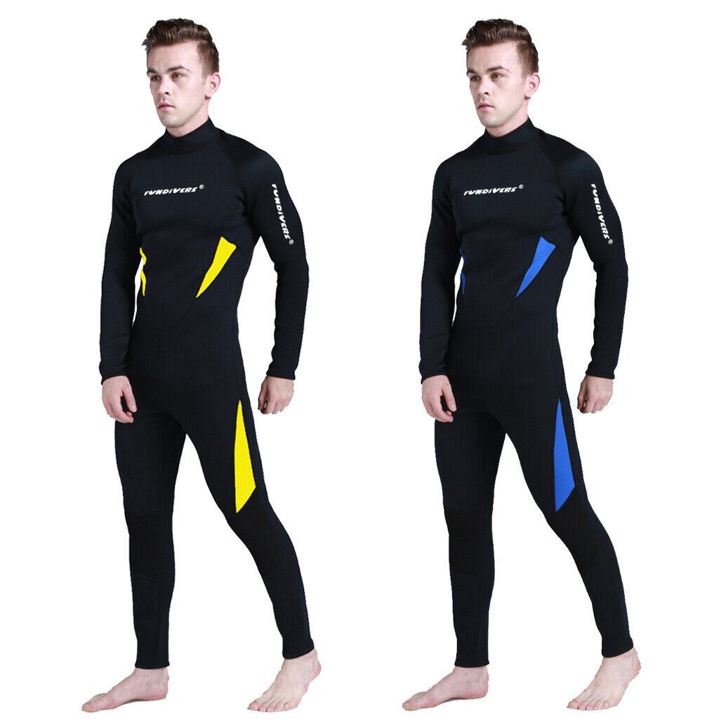Para Hombre 3 mm Neopreno Buceo Wetsuit Surf Buceo Natación Mono S-3XL