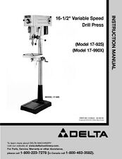 Delta 40 570 16 Quot Variable Speed Scroll Saw Instruction