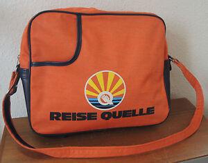 """Classique-sac """"voyage Source"""" 80 S 80er -- Orange -- Rares -- Vintage-afficher Le Titre D'origine"""