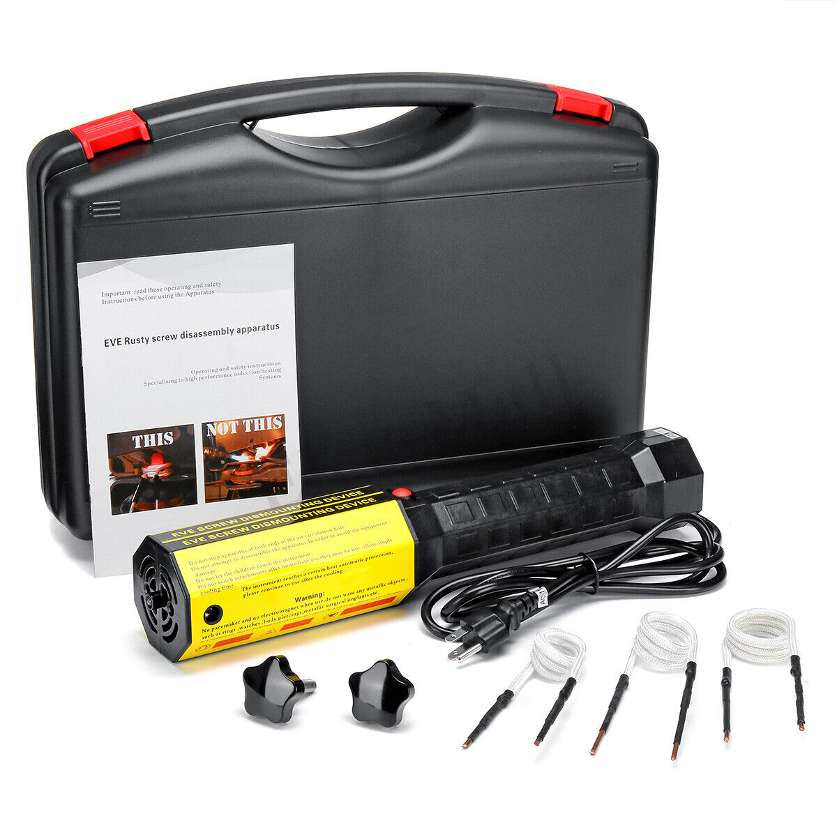 110V 1KW Mini Ductor Magnetic Induction Heater Kit For Automotive Flameless Heat