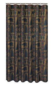Cabin-Pine-Lodge-Wildlife-Shower-Curtain