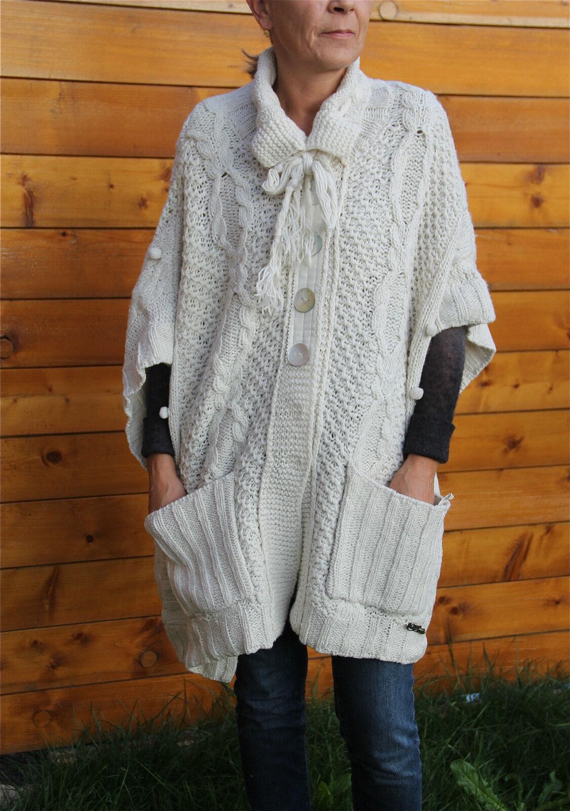 Big wool vest white winter MC PLANET T 36 new label TOP RANGE V