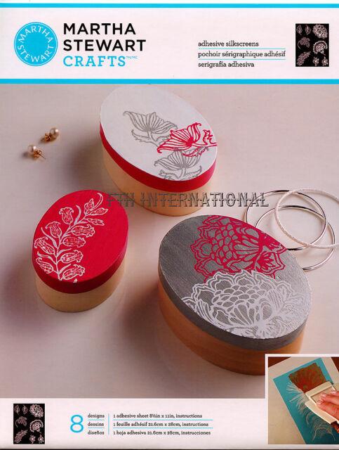 Martha Stewart Wildflowers ~ Adhesive Silkscreen Stencils #32933 Flowers, Leaf