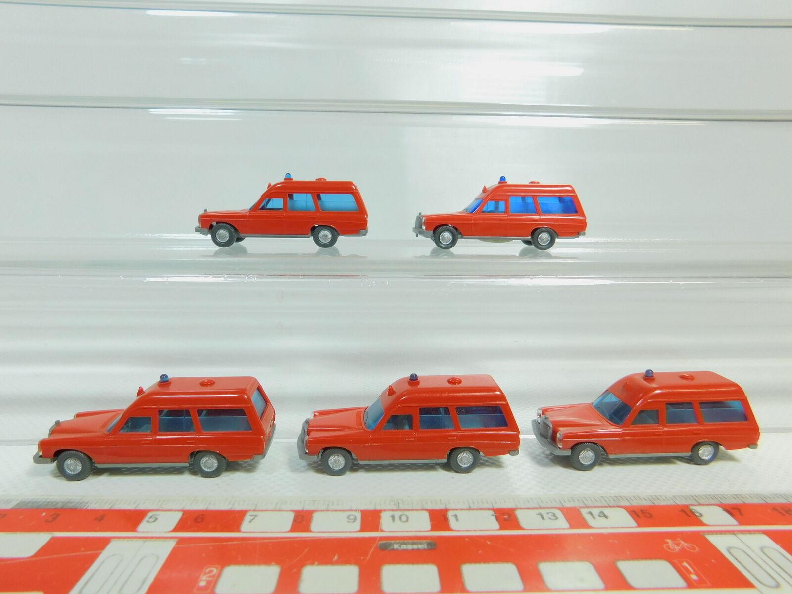 BO547-0,5 x Wiking H0 1 87 607 Ambulanza Mercedes     MB 200 Fw   Pompieri, S.G b974b1