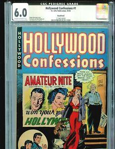 Hollywood-Confessions-1-CGC-6-0-Joe-Kubert-cover-Rockford-Pedigree-1949-St-John