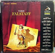 3 LP RCA Stereo SD 1s/1s GEORGE SOLTI verdi falstaff VG+ LSC 6163 Box 1964