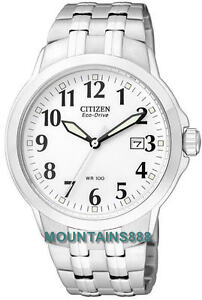 CITIZEN-Eco-Drive-Watch-Low-Charge-Indicator-S-Steel-WR100-Date-Mens-BM7090-51A