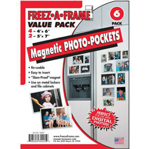 Freez A Frame Combo Pack 4 4x6 Amp 2 5x7 Magnetic Photo