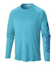 "New Mens Columbia PFG ""Terminal Tackle"" Omni-Shade/Wick T-Shirt Top Tee Polo XL"