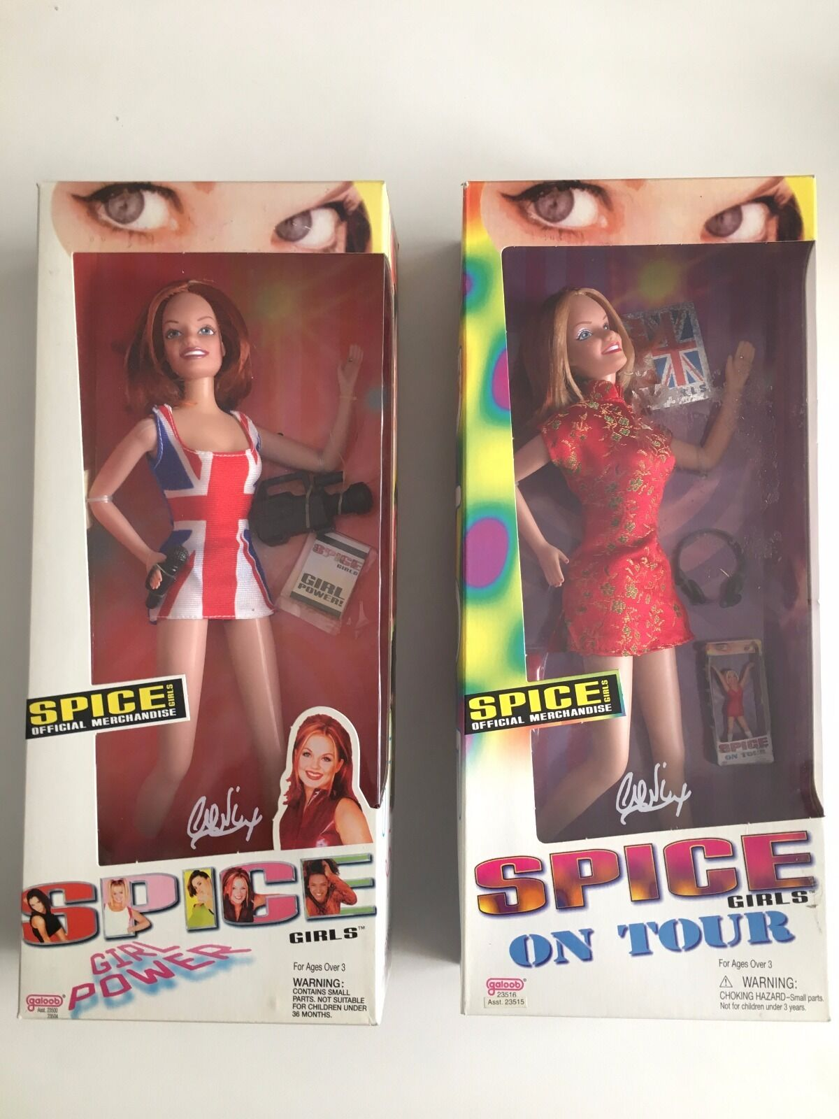 Geri  Ginger Spice  Htuttiiwell Galoob bambolas from the Spice Girls collezione LOT