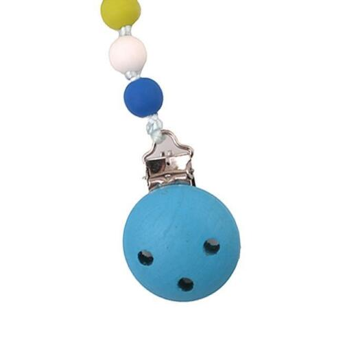 Kids Baby Boy Girl Dummy Pacifier Soother Nipple Strap Chain Clip Holder WO