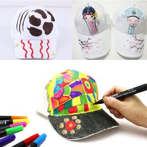 White-hand-painted-cap-baseball-cap-blank-children-DIY-art-painted-ca-Hw