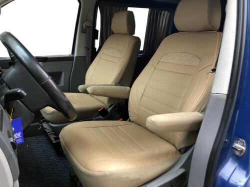 Sitzbezüge Schonbezüge VW T5 T6 Multivan Caravelle Kombi Kunstleder beige