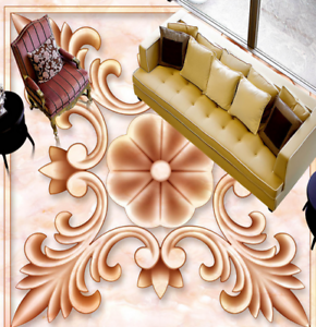 3D Brown Pattern 55 Floor WallPaper Murals Wall Print 5D AJ WALLPAPER UK Lemon