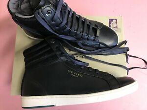 Ted Baker   The KilMAN 2 Grain  BLACK Leather High-Top Sneakers(8 )$ 265