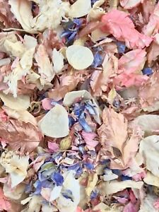 ROSE-GOLD-Pink-Lilac-Ivory-Dried-Biodegradable-Wedding-Confetti-Real-Petals