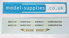 Dinky 283 BOAC Coach Reproduction Waterslide Transnfers Set