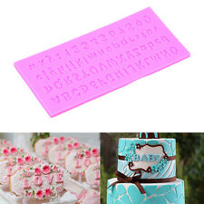 3D Alphabet Letter Silicone Fondant Mold Cake Chocolate Cutter Mould Bake Decor