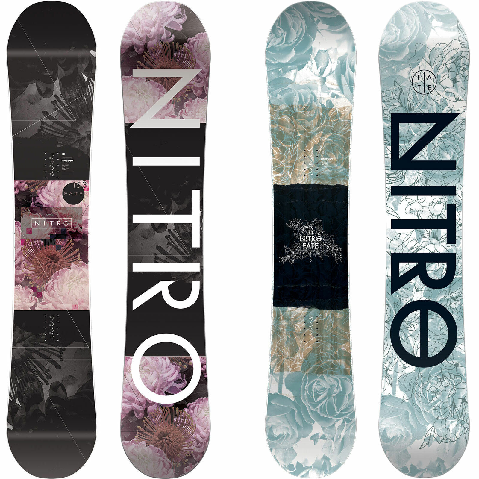 Nitro Fate Womens snowboard All Terrain Freestyle Freeride Camber  2019-2020 NEW  the best online store offer