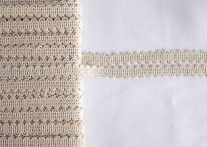 1-45-m-1m-Kordelborte-Borte-Trachten-Schmuckband-Zierborte-hellbeige-10-mm-Neu