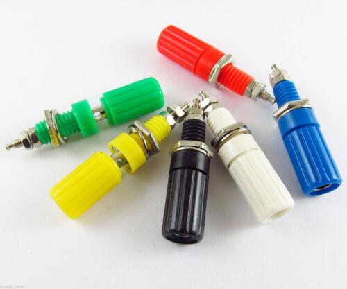 1set 6 colors 4mm Binding Post Banana Jack For 4mm Banana Plug Test Connectors
