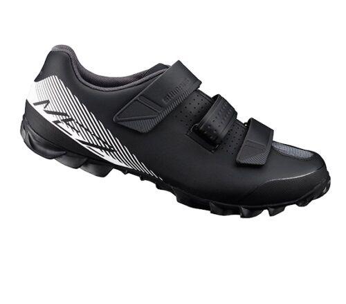 Shimano SH-ME2 Bicicleta de Montaña MTB Ciclismo Zapatos Negro blancooo ME2 - 48 (US 12.3)