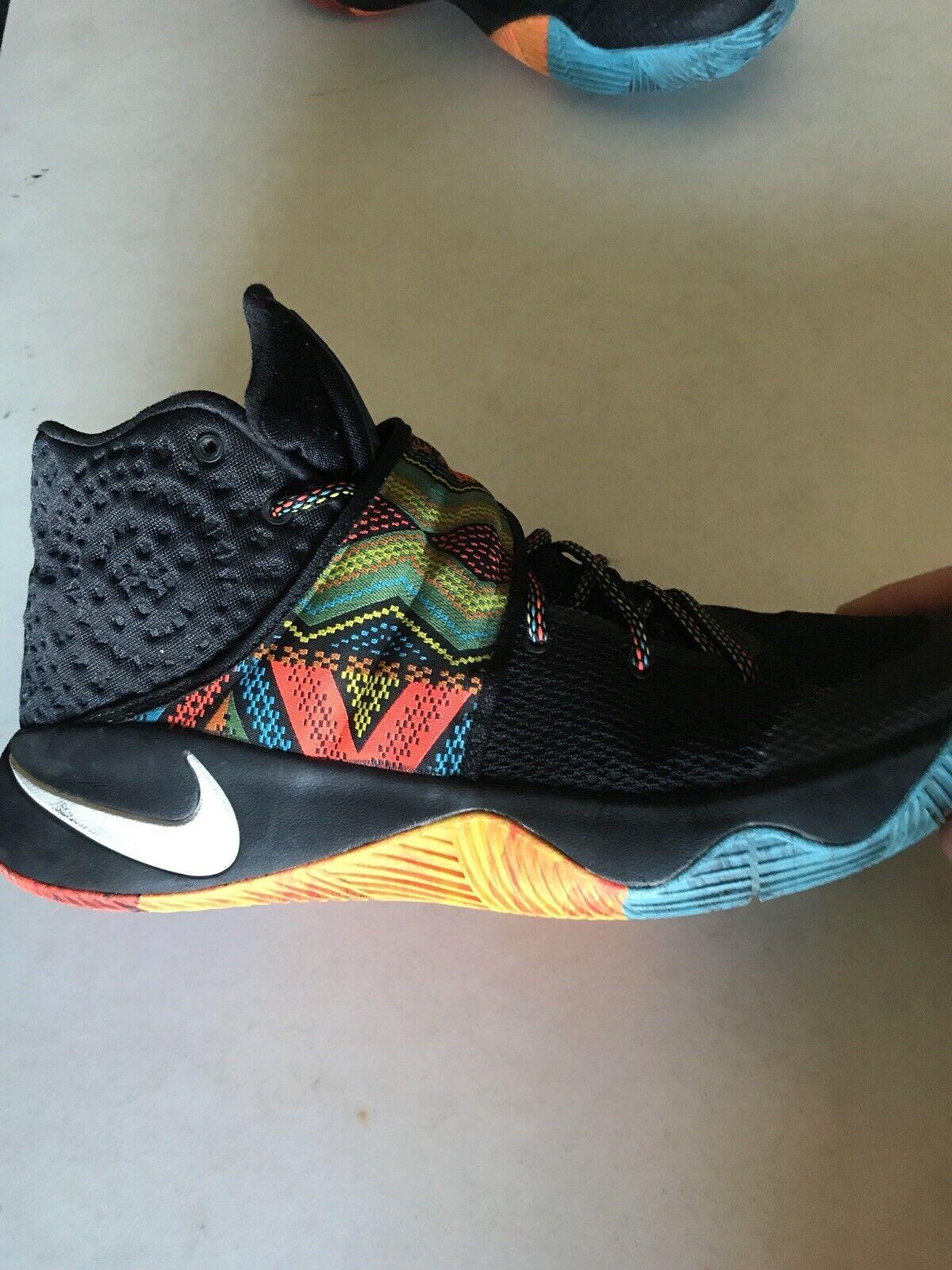 Nike Kyrie 2 BHM Black Black Black History Month Sz11 -Great Condition 7ec022