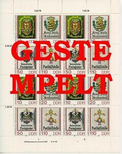 Germany-GDR-DDR-R-d-a-1990-Mi-3306-3309-Zd-Bogen-Timbres-Used-Plus-Sh-Shop
