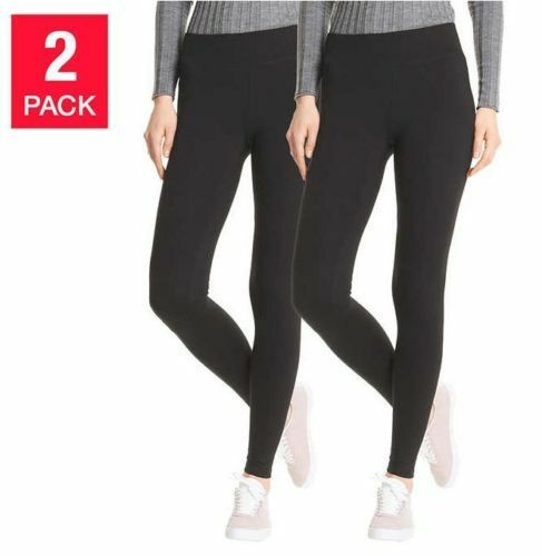 SALE Hue Womens/' Perfect Fit Cotton Leggings 2 pk Black SIZE VARIETY Ships Free