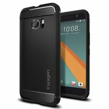 HTC 10 Case, SPIGEN Rugged Armor Case Black