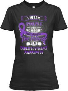Domestic-Violence-Awareness-Gildan-Women-039-s-Tee-T-Shirt