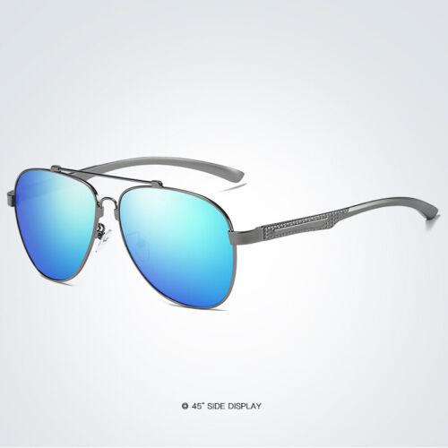 KEITHION Mens Polarized Memory Metal Frame Sunglasses Mirror Driving Eyewear