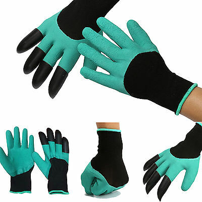 Hot Garden GENIE Gloves For Digging&Planting with4 ABS Plastic Claws Gardening