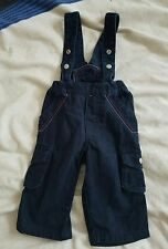 baby boy navy blue winter spring warm suspender trousers dungarees 6-9 months