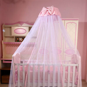 Baby-Boys-Girls-Mosquito-Net-Princess-Crib-Netting-Bed-Canopy-with-Bowknot-Decor