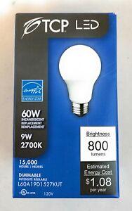 14 New TCP LED 60W Dimmable Light Bulb 9W 2700K  800 Lumens Brightness 120V