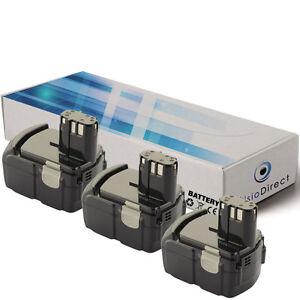 Lot-de-3-batteries-14-4V-2000mAh-pour-Hitachi-DS14DVF2-Societe-Francaise