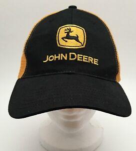 e106ed9d17f02 Image is loading John-Deere-Yellow-Black-Mesh-Trucker-Hat-Ball-
