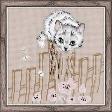 "RIOLIS Counted Cross Stitch Kit 7.75/""X7.75/""-Cats And Mice 14 Count"