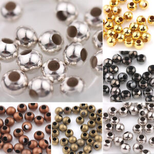 1000 GOLD PLATED SMOOTH BALL SPACER BEADS ROUND Size 3mm LEAD /& NICKEL FREE