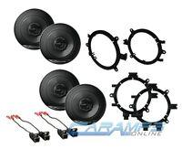 Pioneer 6.5 Car Truck Stereo Front & Rear Door Speakers W/ Mounting Brackets