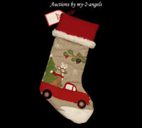 Pottery Barn Kids Truck With Reindeer Woodland Stocking No Monogram No Name