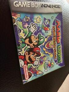 Mario Luigi Superstar Saga Nintendo Gameboy Advance Game