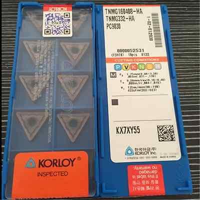 10pcs KORLOY TNMG160408-HA PC9030 TNMG332-HA Carbide Inserts New