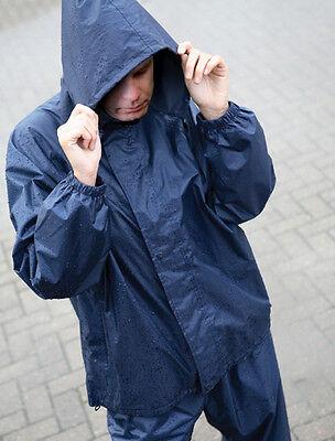 LIGHTWEIGHT WATERPROOF RAIN JACKET WORK COAT NYLON KAGOUL HOODED MENS LADIES
