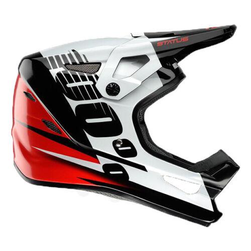 Kelton Red 100/% STATUS DH//BMX Helmet SM