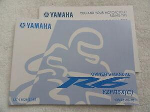 2007 2008 yamaha r6 owners manual yzfr6x c ebay rh ebay com 2008 r6 service manual 2006 R6