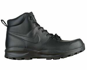 d87cf61a1cb Nike Men's Size 10 Manoa Leather Work BOOTS Shoes Black 454350 003