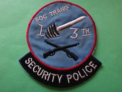 US 13th SECURITY POLICE Squadron At SOC TRANG Patch From Vietnam War Era