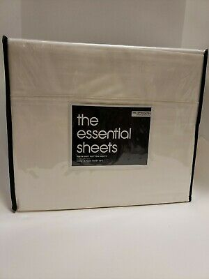 THE ESSENTIAL SHEETS BLOOMINGDALE/'S KING SET COTTON //SATEEN NEW